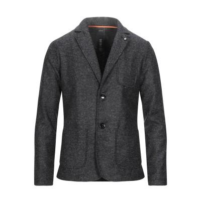 DISTRETTO 12 テーラードジャケット スチールグレー 48 アクリル 54% / バージンウール 24% / ポリエステル 22% テーラ