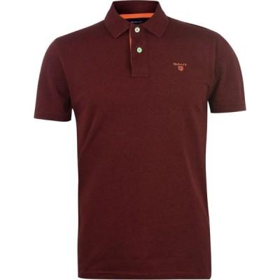 ガント Gant メンズ ポロシャツ 半袖 トップス Short Sleeve Polo Shirt Burg