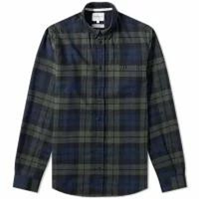 Norse Projects メンズシャツ Norse Projects Anton Flannel Check Shirt Black Wa