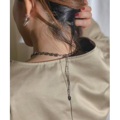 wears / ラウンドプレートチェーンショートネックレスM WOMEN アクセサリー > ネックレス