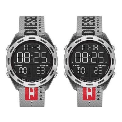大きいペア セット デジタル 同じサイズ ビッグフェイス おしゃれ カジュアル ペア ウォッチ 腕時計 ディーゼル ナイロン