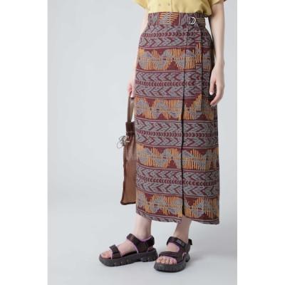 【ローズバッド/ROSEBUD】 アフリカン柄ストレートスカート