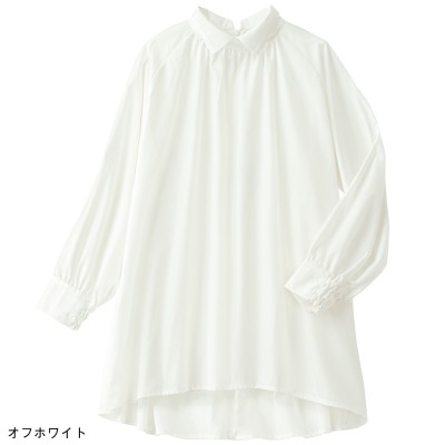 <タカシマヤ スタイル・プリュ>◆デザイン襟ブラウス (L・LL相当) レディース