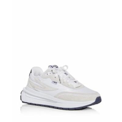 フィラ レディース スニーカー シューズ Women's Renno Low Top Sneakers White/Navy