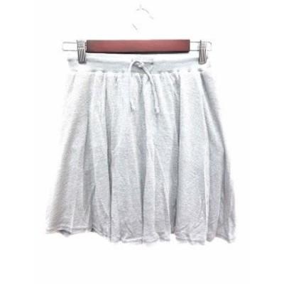【中古】未使用品 アルシーヴ archives スカート ニット フレア ミニ M グレー /YK レディース