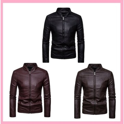 ジャケット コート メンズ かっこいい フェイクレザージャケット