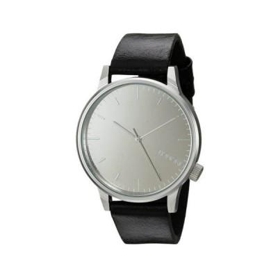 腕時計 コモノ Komono KOM-W2892 Unisex Winston Mirror Silver Dial Black Band Watch