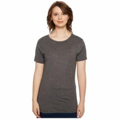 フォワードクロージング 4Ward Clothing レディース Tシャツ トップス Short Sleeve Scoop Jersey Top - Reversible Front/Back Charcoal