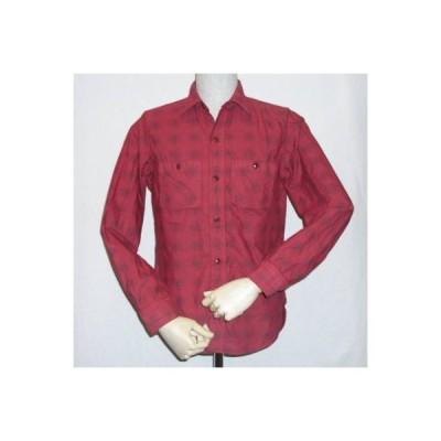 LV-02-レッド-ビエラチェックシャツ長袖-LV02-DELUXEWARE-デラックスウエアネルシャツ