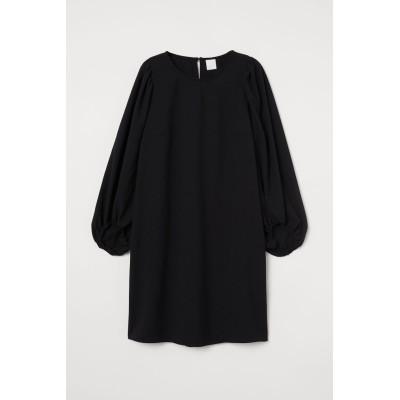 H&M - バルーンスリーブワンピース - ブラック