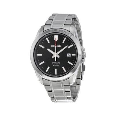腕時計 セイコー Seiko ブラック ダイヤル ステンレス スチール メンズ 腕時計 SGEH49