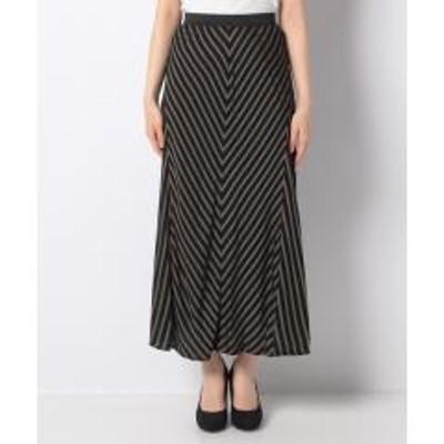シスレー(ファッション)ストライプ切り替えフレアスカート