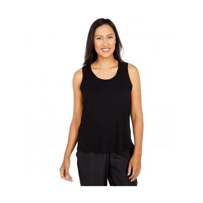 Eileen Fisher アイリーンフィッシャー レディース 女性用 ファッション トップス シャツ Scoop Neck Tank - Black