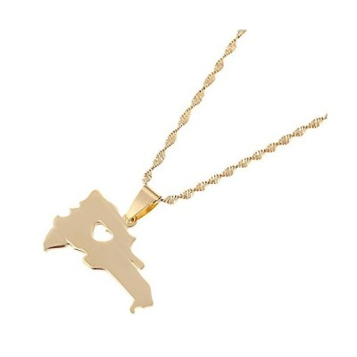 The Dominican Republic Map Pendant Jewelry Women Gold Color Jewelry Map of