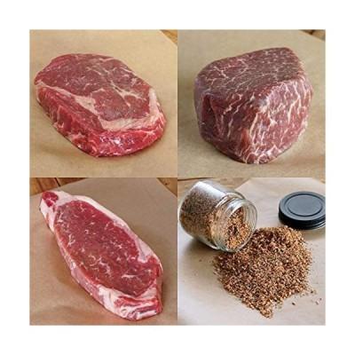 ニュージーランド産 プレミアム ビーフ 厚切り ステーキ 食べ比べ セット 計850g New Zealand Beef Steak Gif