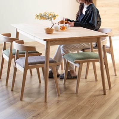 ダイニングテーブル 幅150cm 木製 天然木 引き出し ナチュラル ダイニング テーブル 机 ( 食卓テーブル 四人掛け 食卓 4人掛け 木製テー