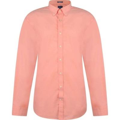 ガント Gant メンズ シャツ トップス Long Sleeved Poplin Shirt Coral