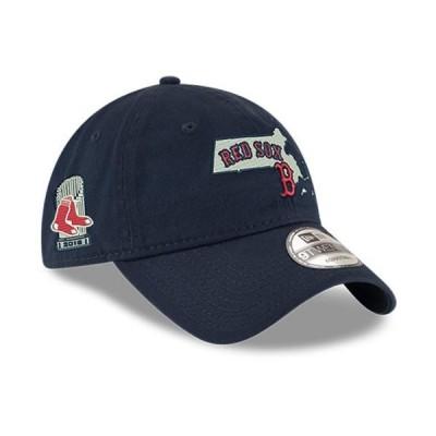 ユニセックス スポーツリーグ メジャーリーグ Boston Red Sox New Era 2018 World Series Champions State 9TWENTY Adjustable Hat - Navy