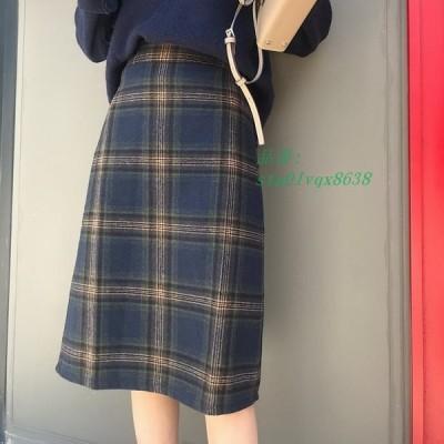 スカート ひざ下 秋 フレアスカート 冬 チェック柄 チェック柄フレアスカート ロング レディース ロングスカート