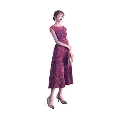 FASELE ワンピース レデイース ドレス パーティードレス イブニングドレス キラキラ プリンセス 優雅 高貴 花嫁