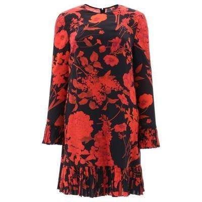 ヴァレンティノ レディース ワンピース トップス Valentino Floral Print Pleated Dress -