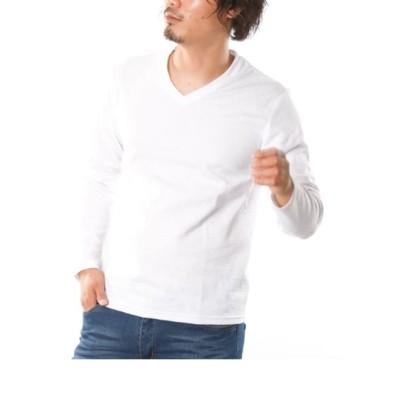 フクレジャガード迷彩柄長袖VネックTシャツ Tシャツ・カットソー, T-shirts, テレワーク, 在宅, リモート