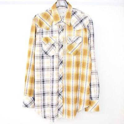 Engineered Garments エンジニアドガーメンツ 19SS Western shirt チェック柄パッチワークウエスタンシャツ イエロー M メンズ