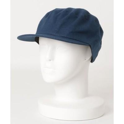 帽子 キャスケット :コットンリネンフラットバイザー