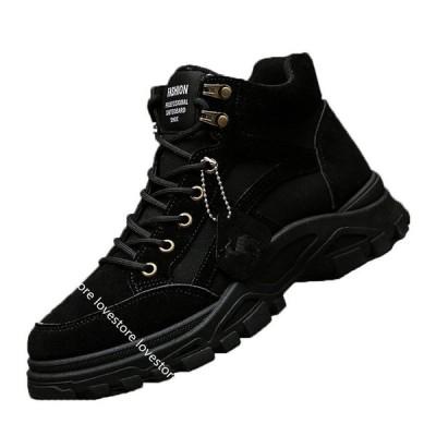 砂漠靴 カジュアルシューズ アンクルブーツ メンズ レースアップ 男性 戦靴 運動靴 ハイカット バイクブーツ ミリタリ スポーツ 防滑