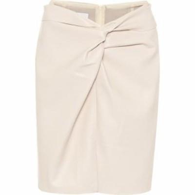 ナヌシュカ Nanushka レディース ミニスカート スカート Milo faux-leather miniskirt Off-White