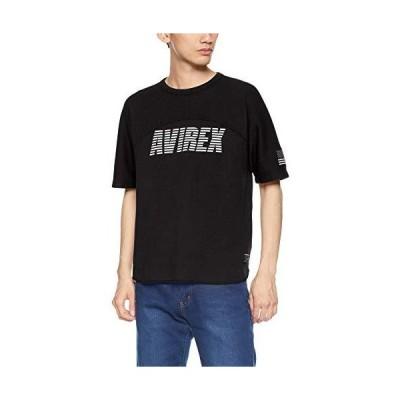 [アヴィレックス] Tシャツ HONEYCOMB YOKE SLEEVES LOOSE FIT TEE 6193322 メンズ 09BLACK 日本