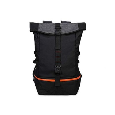 Dertyped Internal Frame Hiking Backpack Casual Backpack Large Capacity Basketball Training Bag Man's Fitness Sports Backpack Black Mountaine
