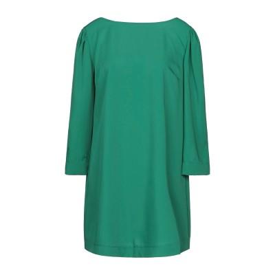 スーベニア SOUVENIR ミニワンピース&ドレス グリーン S ポリエステル 93% / ポリウレタン 7% ミニワンピース&ドレス