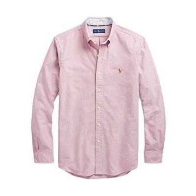 Ralph Lauren Men Solid Sport Oxford Shirt (L, Crimson)