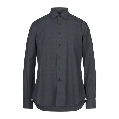 DEL SIENA シャツ ブラック 37 コットン 100% シャツ