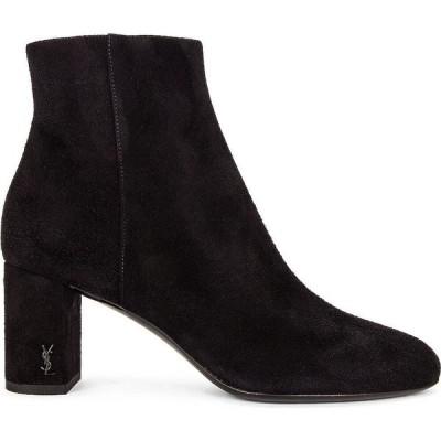 イヴ サンローラン Saint Laurent レディース ブーツ ショートブーツ シューズ・靴 Loulou Zipped Booties Noir
