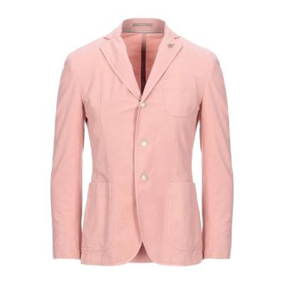 パオローニ PAOLONI テーラードジャケット ピンク 46 コットン 87% / 麻 11% / ポリウレタン 2% テーラードジャケット