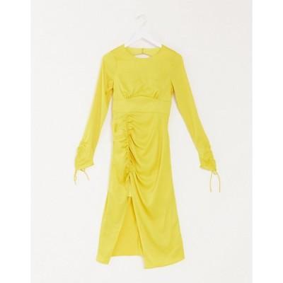 ビスチェ ミディドレス レディース Vestire exclusive sweetest thing midi dress in lemon エイソス ASOS