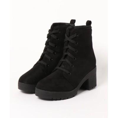 Mafmof / Mafmof(マフモフ) タンクヒールレースアップ ブーツ WOMEN シューズ > ブーツ