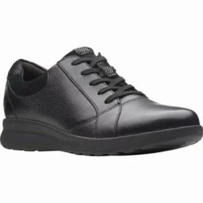 クラークス スニーカー Un Adorn Sneaker Black Leather/Suede Combination