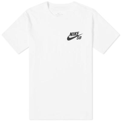 ナイキ Nike SB メンズ Tシャツ ロゴTシャツ トップス Logo Tee White/Black