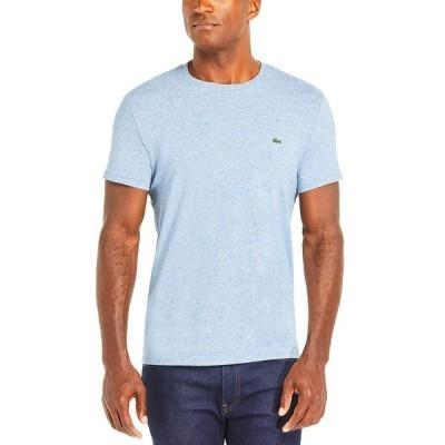 ラコステ Tシャツ トップス メンズ Men's Crew Neck Pima Cotton T-Shirt Light Indigo Blue