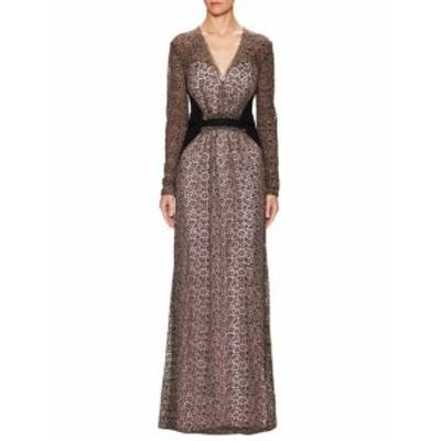 キャロライナヘレラ レディース ワンピース Lace Deep V-Neck Gown