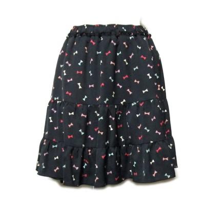 DOLLY GIRL by ANNA SUI ドーリーガール バイ アナスイ ブラックボリューム スカート