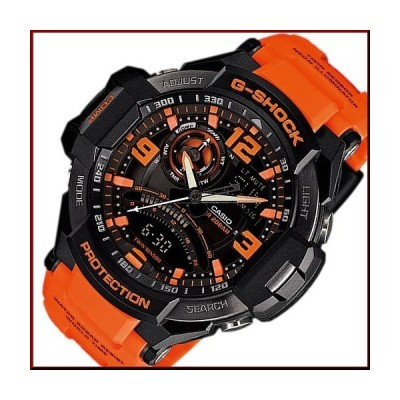 CASIO G-SHOCK カシオ Gショック SKY COCKPIT スカイコックピット メンズ腕時計 ツインセンサー搭載 オレンジ/ブラック 海外モデル GA-1000-4A