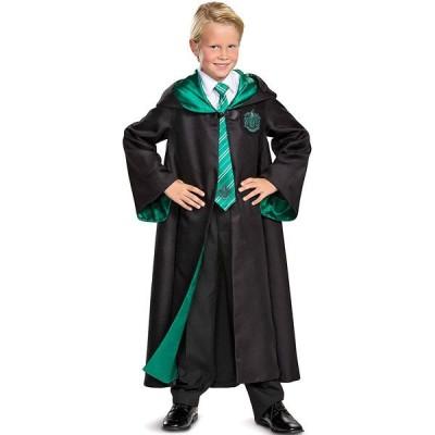 ハリーポッター 衣装 ローブ コスプレ 子供 ハロウィン 仮装 スリザリン プレステージ パーティー サテン フード ユニバ USJ