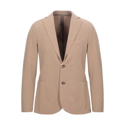 イレブンティ ELEVENTY テーラードジャケット キャメル 48 コットン 83% / ナイロン 14% / ポリウレタン 3% / ポリエステ
