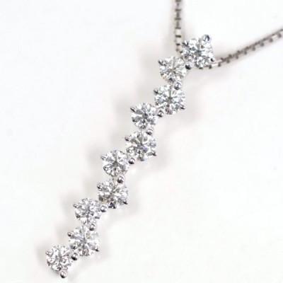 TASAKI 田崎真珠 ダイヤモンド1.00ct(10石) K18WG ネックレス