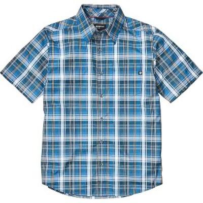 マーモット メンズ シャツ トップス Marmot Men's Lykken SS Shirt Varsity Blue