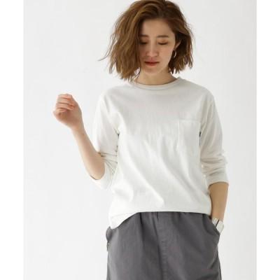 BASE STATION / ベースステーション 【WEB限定】七分袖 ヘビーウェイトポケットTシャツ クルーネック